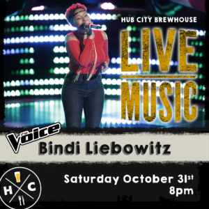 🎤 Live Music - Bindi Liebowitz from The Voice @ Hub City Brewhouse